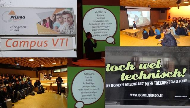 Invitation du département construction du Campus VTI (Vrij Technisch Instituut) à Izegem
