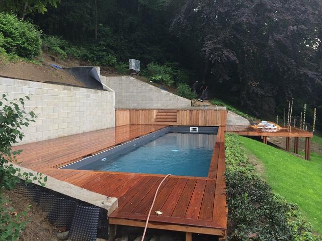 Afin que chaque hôte puisse bénéficier d'un séjour encore plus bienfaisant, nous avons également construit une piscine avec les blocs de coffrage isolants.