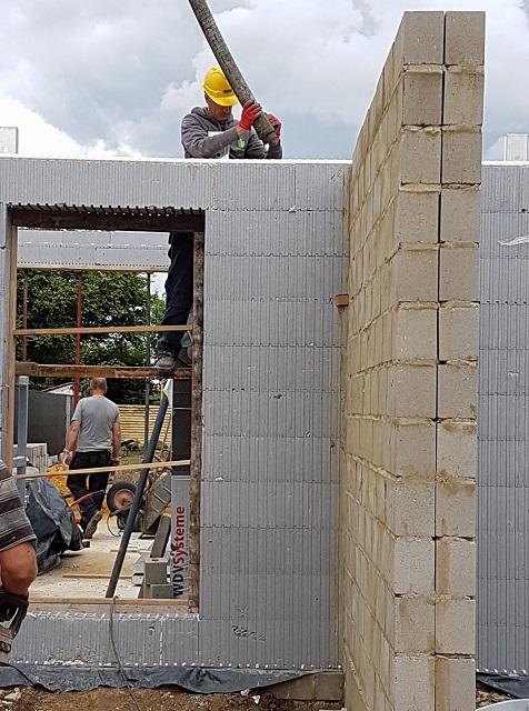 Vandepoel eerste keer beton gieten